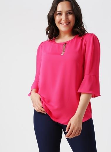 Ekol Ekol 3516 Fuşya Kadın Bluz Fuşya
